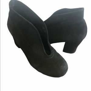 Audley London Deep V Suede Booties, Size 36